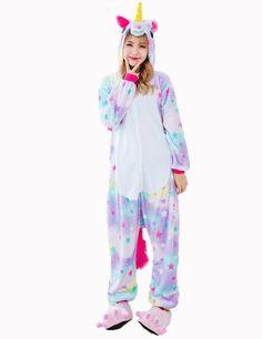 e41f7e6f44 Purple Unicorn Onesie Pajamas Sets Lovers Adult Kugurumi Halloween Cosplay  Christmas Costumes Sleepwear Winter Nightie For Women