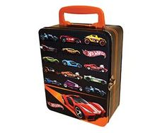 This sleek, new Hot Wheels™ tin provides a classic, durable storage unit for up to 18 of your finest Hot Wheels™ vehicles