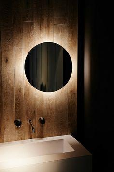Milan Design Week 2014: Boffi Inspiration Baden Baden Interior Modern Bathroom Mirrors, Bathroom Interior, Small Bathroom, Master Bathroom, Gold Bathroom, Industrial Bathroom, Bathroom Ideas, Bad Inspiration, Bathroom Inspiration