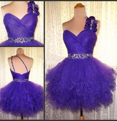 One Shoulder Homecoming Dress,Cute Homecoming Dresses,Tulle Homecoming Dress,Grape Prom Dress,Short Prom Gown