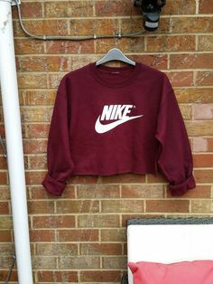 frechen maßgeschneiderte Nike beschnitten Pullover Sweatshirt Festival swag