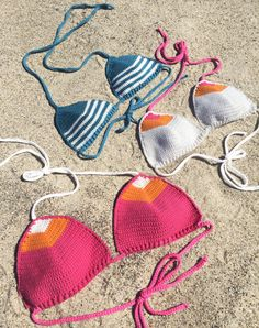 #Crochet bikini pattern.  Easy to make #cheeky, #boho style, bathing suit pattern.  This listing is for a CROCHET PATTERN, not the physical bikini.  ♥  This bikini pattern was... #crochet #knit #crochet #yarn #crafts #coachella