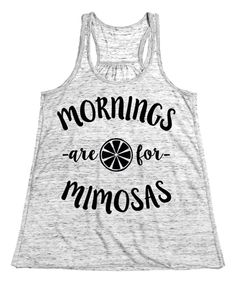 Look at this #zulilyfind! White Marble 'Mornings Are For Mimosas' Tank by Sharp Wit #zulilyfinds