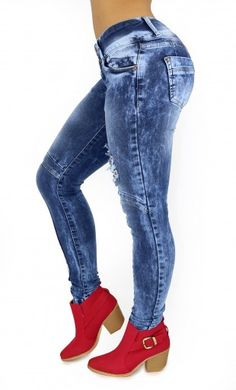 Maripily Pre-Wash Destroyed Women Butt Lifting Skinny Jean – This enhance Maripily Skinny Jean are designed to shape your silhouette!