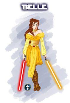 Disney Ladies as Jedi