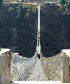 Kusma-gyadi Bridge, Nepal  Would you walk across this?????