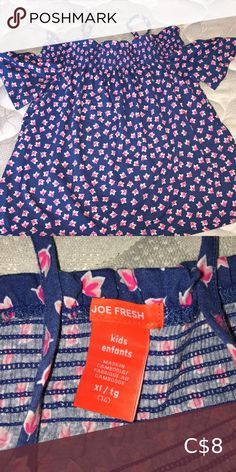 Shirt Super cutesy for the summer Joe Fresh Tops Tees - Short Sleeve Purple T Shirts, Yellow T Shirt, Joe Fresh, Fresh Brand, Fresh Tops, Boyfriend Style, How To Roll Sleeves, Cotton Tee, Black Cotton