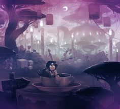 Sea of Tea by Xamag Xamag.deviantArt.com #art #tea #fantasy