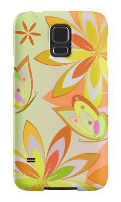 #Spring activity in my garden by cocodes. A colorful #Samsung case that celebrates spring and summer. https://society6.com/product/colorful-floral-pattern-43y_wall-clock#33=282&34=285