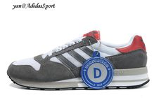 Adidas Originals ZX 500 Trainers Men Dark Grey / White / Red HOT SALE! HOT PRICE!