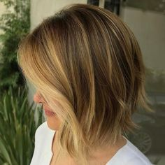 Inverted Messy Bob for Thin Hair