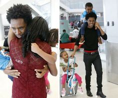 Athlete Feyissa Lelisa Reunites With His Family And Its Also Valentines Day. #ethiopia #news #lelisa