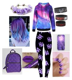 """""""Purple emo"""" by xxxemokilljoybabexxx ❤ liked on Polyvore featuring Forever 21, STELLA McCARTNEY and Hot Topic"""