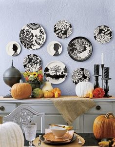 cute kitchen decor idea. Would go with a different wall color.