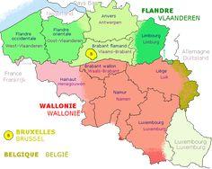 carte linguistique — Belgique