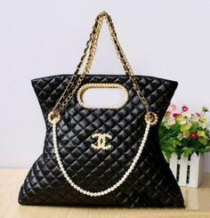 Sheepskin Quilted Luxurious Bag Real Famous Handbags Black And White Sariasknitncrochet Bags Purses