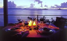 British Virgin Islands -- meal with a view