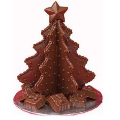 Candy Tree and Treats - Here's the ideal holiday centerpiece! Our Candy Tree and Treats is a festive way to serve a little something sweet. Mold the tree using Wilton Candy Melts poured in a tree cookie cutter on a non-stick pan. Christmas Food Treats, Christmas Cookie Exchange, Christmas Goodies, Christmas Desserts, Holiday Treats, Christmas Traditions, Holiday Recipes, Holiday Foods, Christmas Baking