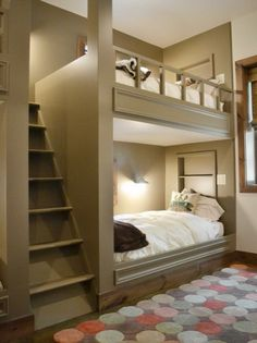 bunk rooms designs for adults | ... Lighting and Large Staircase in Contemporary Kids Bedroom Design Ideas
