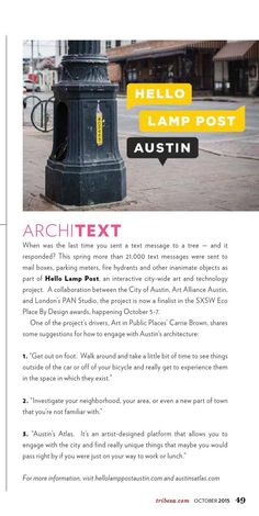 Tips for how to engage with Austin architecture - via Tribeza October 2015 #ClippedonIssuu