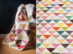 Half square triangle quilt | Arrow and the Heart