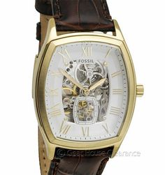 Fossil Mens Automatic Watch (NEW) 20-Jewels, Skeleton Dial & Clear Back $195msrp