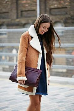 Faux-Shearling Car Coat | Topshop, Clothes and Winter