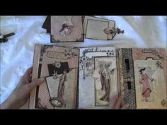 Graphic 45 A Ladies Diary year book journal / mini album - Incredible attention to detail and she has a tutorial available on her channel.