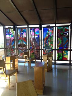 Sunset Inside New Chapel At Christus St Frances Cabrini Hospital 5th Floor Alexandria