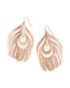 Karina Statement Earrings in Rose Gold