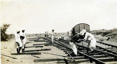 https://flic.kr/p/3dTEHa | Constructing the locomotive yard at Kassala, Sudan
