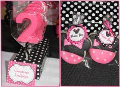 minnie mouse favors - lollipops & cookies
