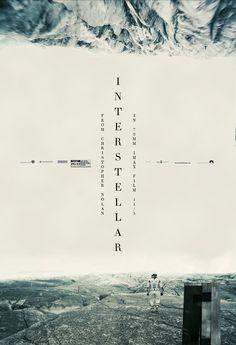 Interstellar movie posters - that typography!!