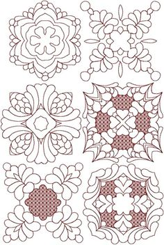 Advanced Embroidery Designs - Trapunto Quilting Block Set