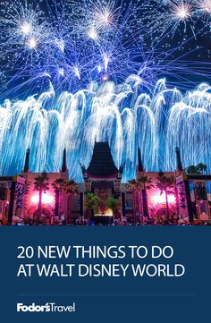 Disney World Tip - If you haven't been there in awhile, this will get you caught up on all the new things there are to do!