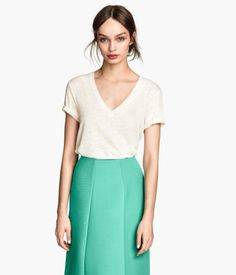 Linen-jersey Top | H&M saved by #ShoppingIS