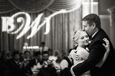 Bride and Groom First Dance Wedding Day Portrait at St Petersburg Wedding Reception Venue Vinoy Renaissance | Limelight Photography St Petersburg Wedding Photographer
