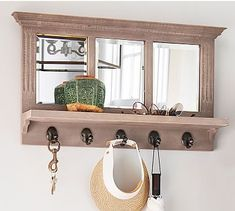 Livingston Entryway Collection, Mirror With Hooks #potterybarn