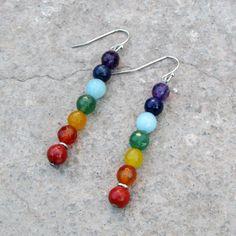 7 Chakras, Sacral Chakra, Bead Earrings, Flower Earrings, Gemstone Earrings, Diy Unique Earrings, Earrings Online, Pulseras Kandi, Beaded Jewelry