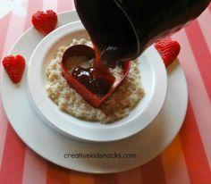 Valentine oatmeal and strawberries