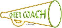 Cheer Coach Megaphone Applique &  Machine Embroidery by 2artzee, $1.99