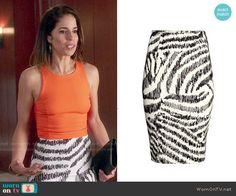 8a336b0a03586d Marisol s zebra striped skirt on Devious Maids. Outfit Details  http    wornontv