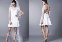 1. Zdjęcie  - Trend 2016 - krótkie suknie ślubne
