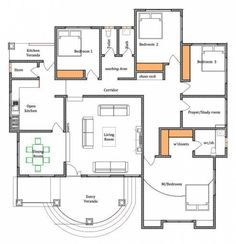 2bhk House Plan, Free House Plans, Model House Plan, House Layout Plans, Studio Floor Plans, Bungalow Floor Plans, Bungalow House Design, House Floor Plans, Small Modern House Plans