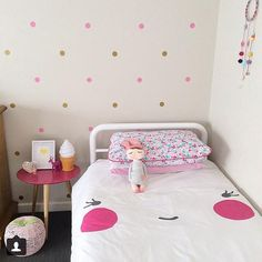 Polka dotty and pretty girls room!