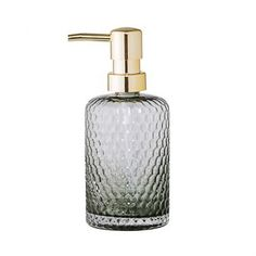 Clean your hands in style with this Grey Glass Soap Pump Dispenser by Bloomingville. Made from grey coloured glass, the chic soap dispenser would be a luxurious addition to many contemporary bathrooms in homes, hotels and other establishments. Bathroom Soap Dispenser, Soap Dispensers, Bathroom Accessories, Home Accessories, Soap Pump, Gold Pumps, Best Soap, Grey Glass, Liquid Soap