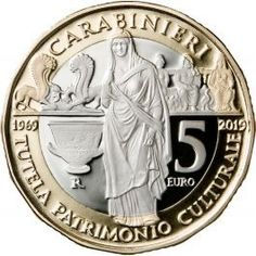 The State Mint of Italy is issuing twonew 5 euro commemorative coins to celebrate the Carabinieri and the Alpini. Ancient Egyptian Art, Ancient Aliens, Ancient Greece, Ancient History, Coin Appraisal, Money Worksheets, Euro Coins, Jesus Painting, Motto
