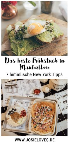 New York City Tips: The best breakfast in Manhattan - New York, New York - Essen Restaurant New York, Cafe New York, New York Bar, New York Food, New York Trip, New York Travel, Manhattan New York, Breakfast Hotel, Best Breakfast