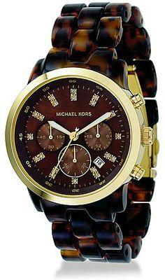 MICHAEL KORS Crystal-Indice Acrylic Chronograph Watch