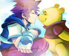 KH_Sora and Winnie_ by LadyGT.deviantart.com on @DeviantArt